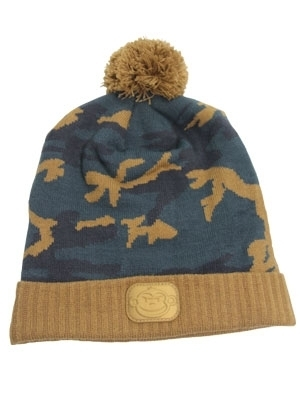 RidgeMonkey BobbleHat CamoStyle brown