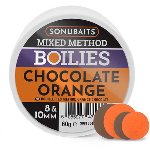 Sonubaits Mixed Method Boilies Choco Orange 8 & 10mm