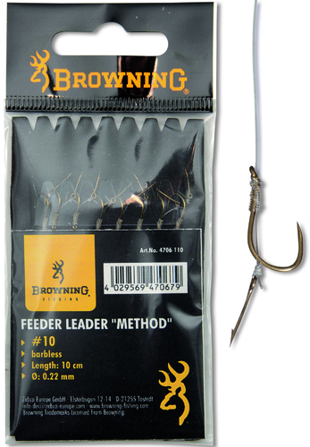 "Browning Feeder Leader ""Method"" mit Boilienadel #12"