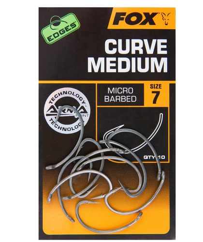 Fox EDGES™ Curve Shank Medium Hooks
