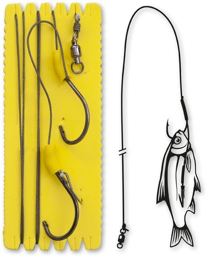 Black Cat #6/0,#6/0 Bouy and Boat Ghost Single Hook Rig L 100kg