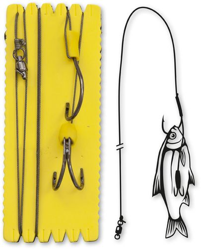 Black Cat #6/0,#3/0 Bouy and Boat Ghost Double Hook Rig L 100kg