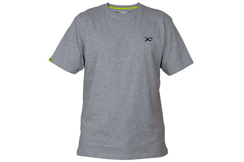 Matrix Minimal Grey Marl T-Shirt