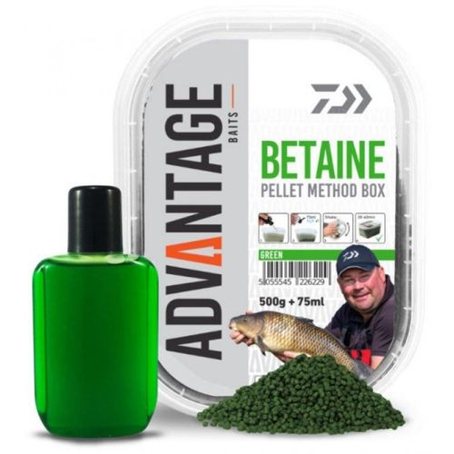 Daiwa Advantage Pellet Box Method Green Betaine 500g + 75ml