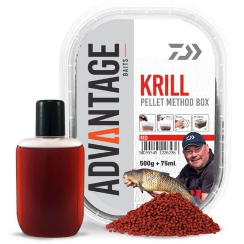 Daiwa Advantage Pellet Box Method Krill 500g + 75ml