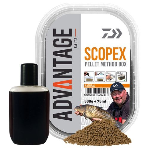 Daiwa Advantage Pellet Box Method Natural Scopex 500g + 75ml