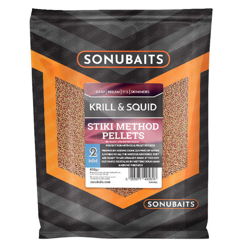 Sonubaits Stiki Krill & Squid Method Pellets 650g/2mm