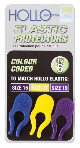 Preston Hollo Elastic Protectors Blue/Yellow/Purple