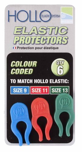 Preston Hollo Elastic Protectors  Blue/Red/Green